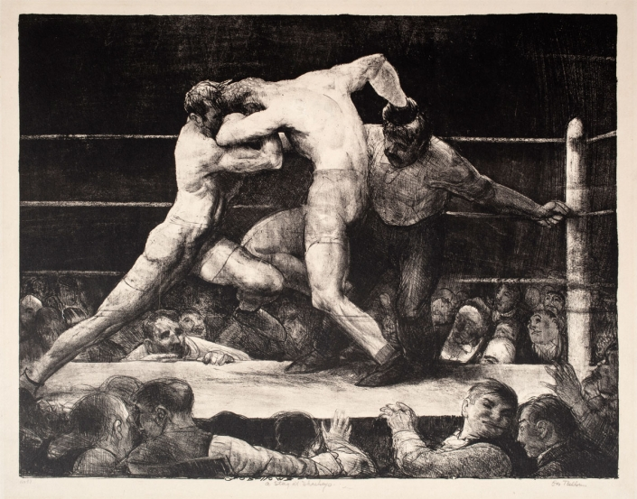 George Bellows, Stag at Sharkey's, 1917, Lithograph