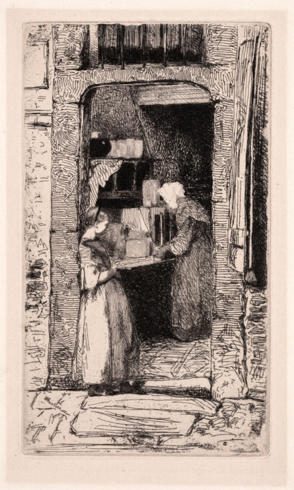 13.08 James Abbott McNeill Whistler, Marchande de Moutarde, La (The Mustard Vendor), 1856, Etching