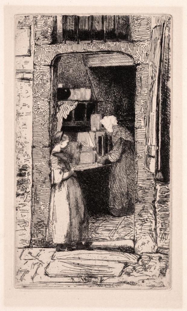 13.08 James Abbott McNeill Whistler, Marchande de Moutarde, La (The Mustard Vendor), 1856, Etching