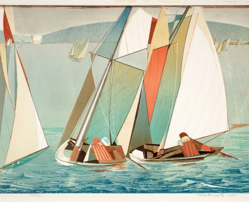Ture Bengtz, Sailing, 1973, Lithograph