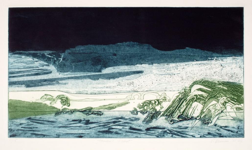 Vivian Berman, Poseidon's Pocket, 1968, Collagraph