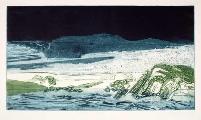 Vivian Berman, Poseidon's Pocket, 1968, Collagraph