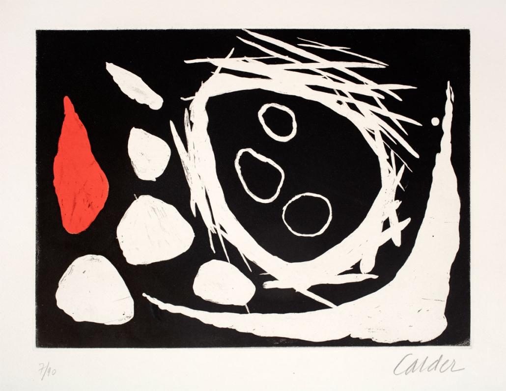 Alexander Calder, Crane dans le Nid, 1961, Aquatint/Intaglio