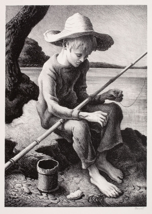 Thomas Hart Benton, The Little Fisherman, 1967, lithograph