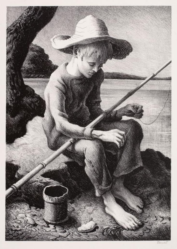 Thomas Hart Benton, The Little Fisherman, 1967, lithograph