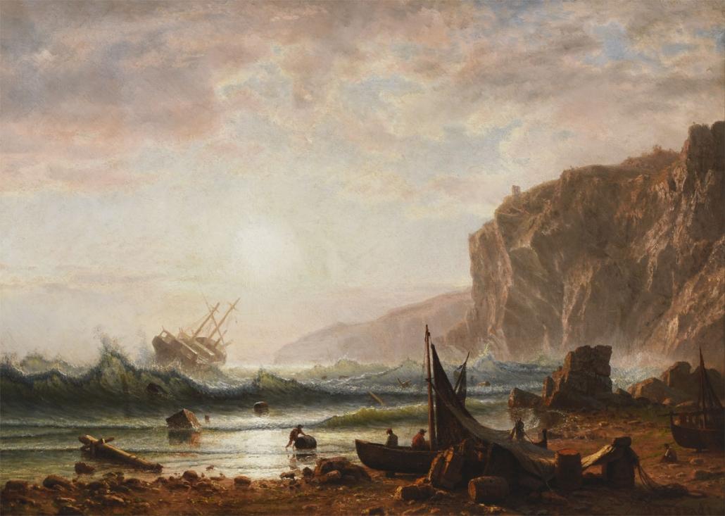 Albert Bierstadt, Wreck on the Italian Coast, 1862, Oil on canvas