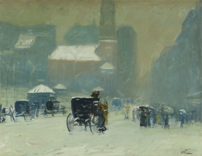 Arthur Goodwin, Park Street Church, Boston, 1905-10, Oil on canvas