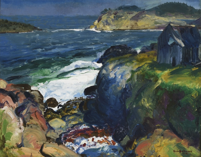 George Bellows, Farm of John Tom, 1916, Oil on canvas