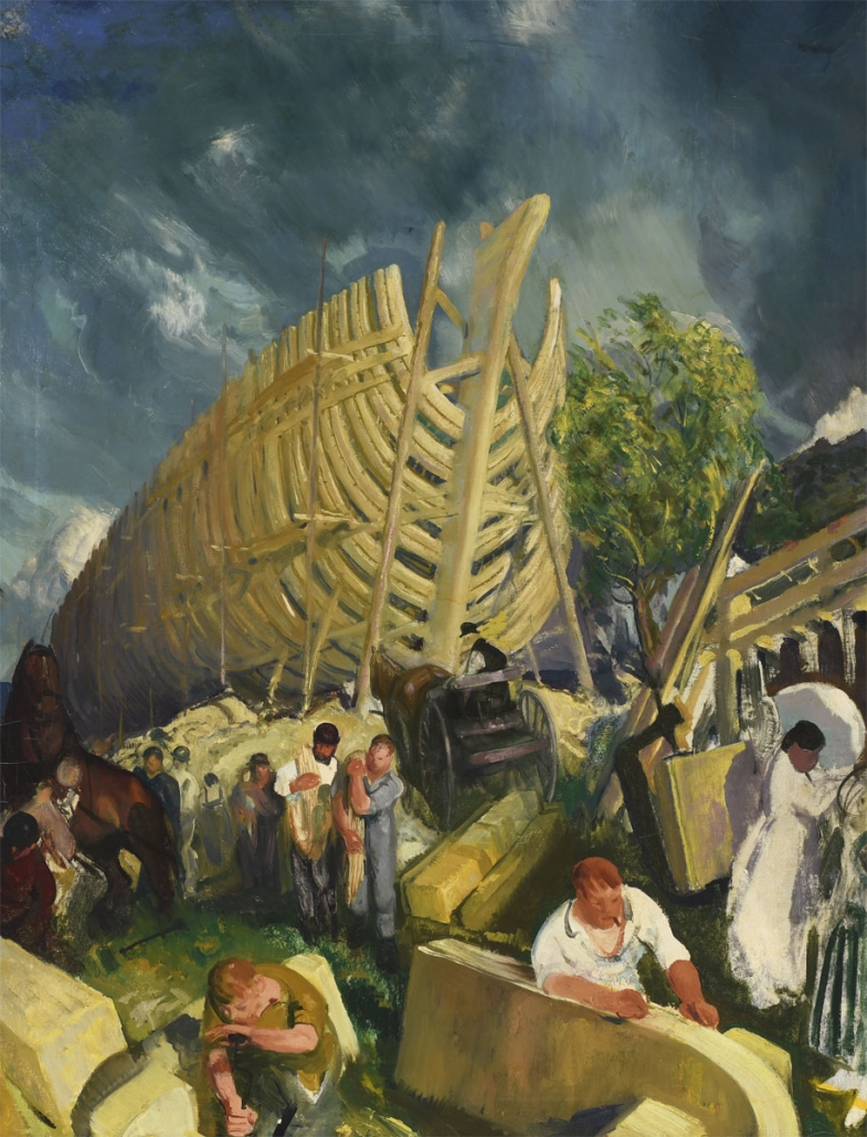 George Bellows, Shipyard, 1916, Oil on canvas