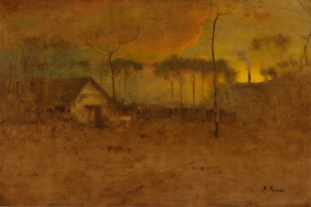 George Inness, On the Edge of the Woods, 1894, Oil on canvas