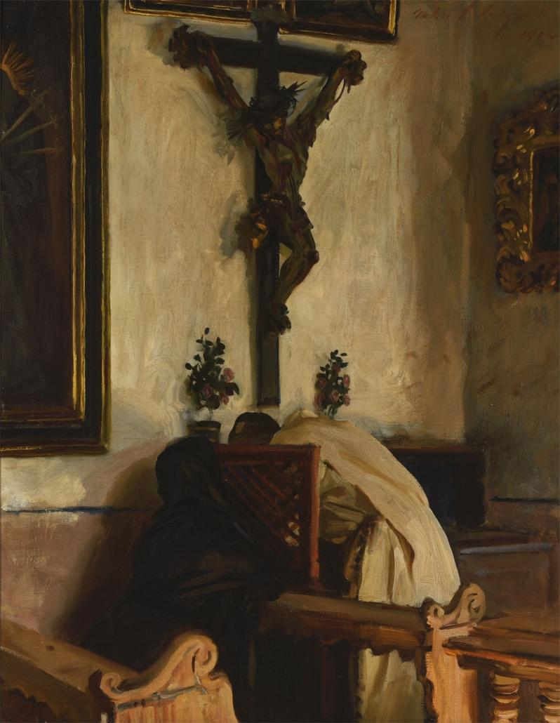 John Singer Sargent, The Confession, 1914, Oil on canvas