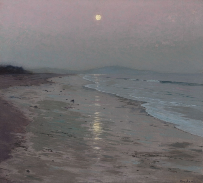 Lowell Birge Harrison, Moonrise on the Beach, 1913, Oil on canvas