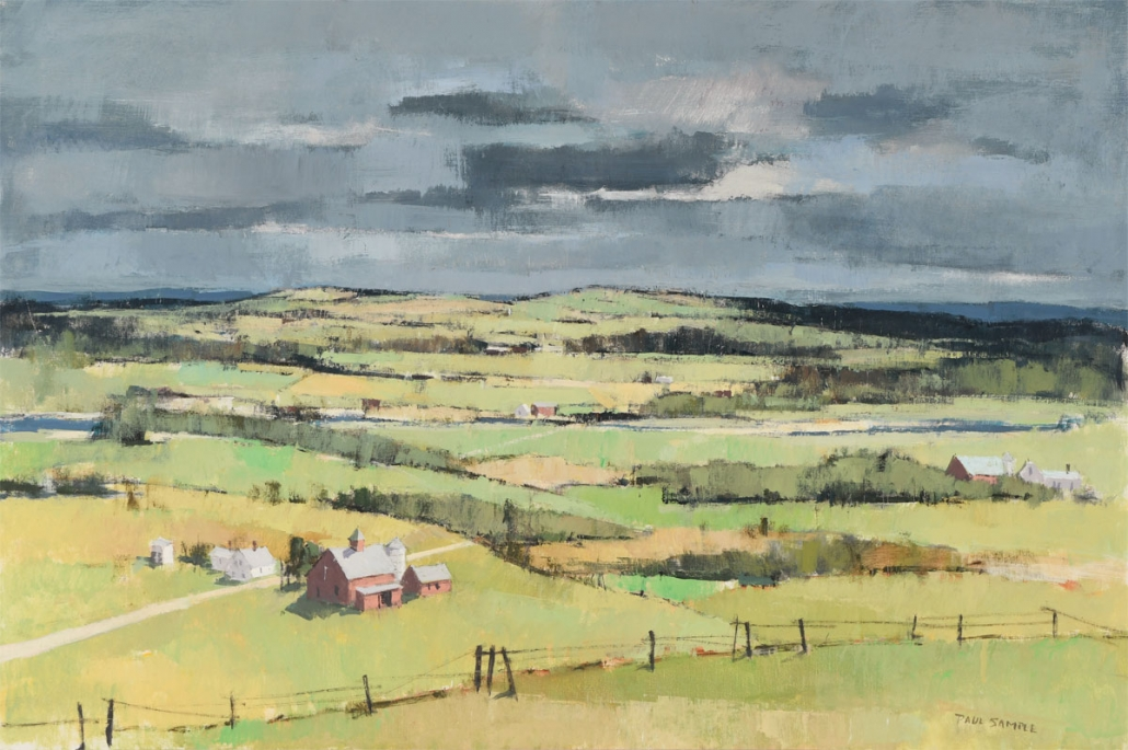 Paul Sample, The Wide Valley, 1960s. Oil on canvas